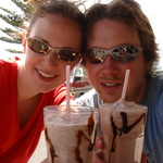 A well deserved ice chocolate, after our mini-tramp!