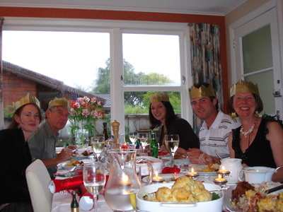 Christmas dinner at the Pecks