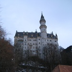 Side on angle of the Castle Neuschwanstein
