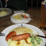 Gini's meal, Sausages and mash!
