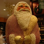 The largest santa in the world made of little chocolate santas.