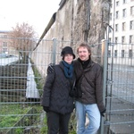 Us, standing next to the part of the Wall still standing.