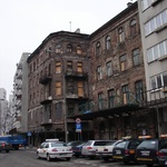 Warsaw: Two buildings left of the Jewish Ghetto
