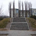 Warsaw: Stairs to where the house stood