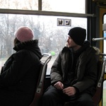 Warsaw: Tour guide Nick on a tram in Warsaw