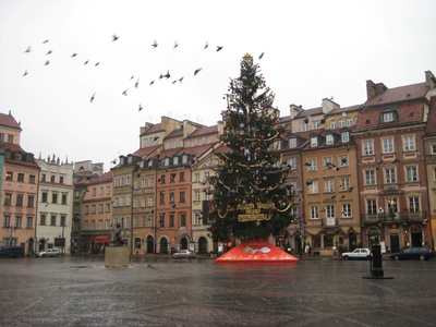 Warsaw: My what a BIG Christmas tree!