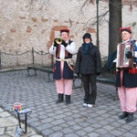 Krakow: Jolly men playing a gig