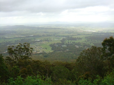 The view from the top of Mt Tamborine