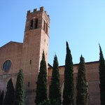 A cathedral on the outskirts of Siena center