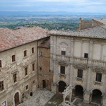 A square in Montepulciano