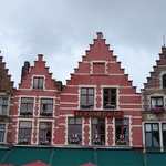 Cute pointy step shaped roofs were common place in Bruges