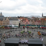 "The view from the top of the clock tower. Aka, ""In Bruges"" clock tower."
