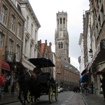 One of the hundreds of horse drawn carts racing the tourists through the streets.