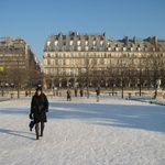 First sight of Paris in snow