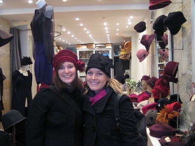 Hat shop and our new hats! Parisian style