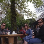 April: Kiwi coffee at Victoria Park with our new locals!