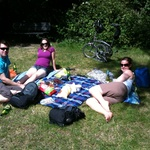 July: Picnic on Hampstead Heath- lovely sunny day