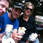 A tasty kebab with Tom near his work in barbican