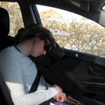 Navigator has a snooze on our return to Callander