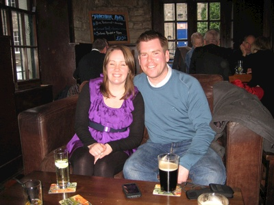 We team up with McMillan Clan at a local pub recommended by David Morgan.