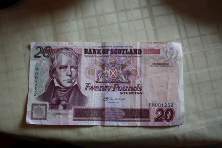 We found it odd the Scot's print their own currency.