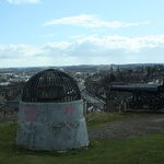 "The ""Beheading"" Stone, out the back of Stirling Castle."