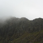 The summit in the mist