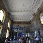 The French style train station with lovely tiled walls