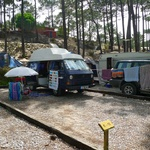 Our camping spot in Nazare