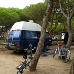 Our camping spot near Sintra (18k away on the coast)