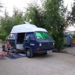 Smurf spot at the campsite - 30 euro a night though!
