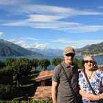 Mum & Dad looking out over Lake Como from Bellagio