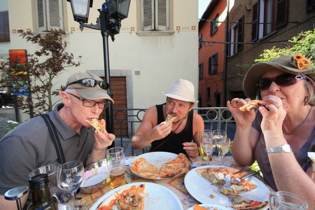 A pizza lunch in Verenna