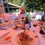 Villa D'Este lunch meal