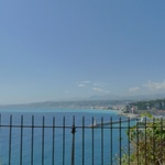Amazing beach along the drive through Monaco