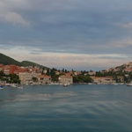 Dubrovnik view as we arrive by ferry