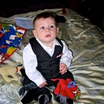 Little Ali (Alex) looking cool with his suit on