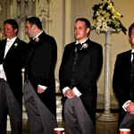 The groom and groomsmen await the grand entrance