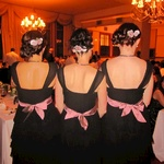Three bridesmaids all in a row