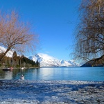 Queenstown in the snow.