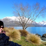 Enjoying the sun in Queenstown