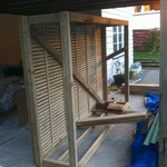The woodshed nearing completion