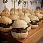 As were 30 mini burgers (which, even the buns were made from scratch .. never again though!)