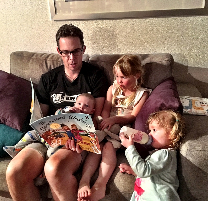 Story time with the Uncles (as Iris would call them).